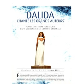 PLV PLAN MEDIA FORMAT A4 DALIDA CHANTE LES GRANDS AUTEURS