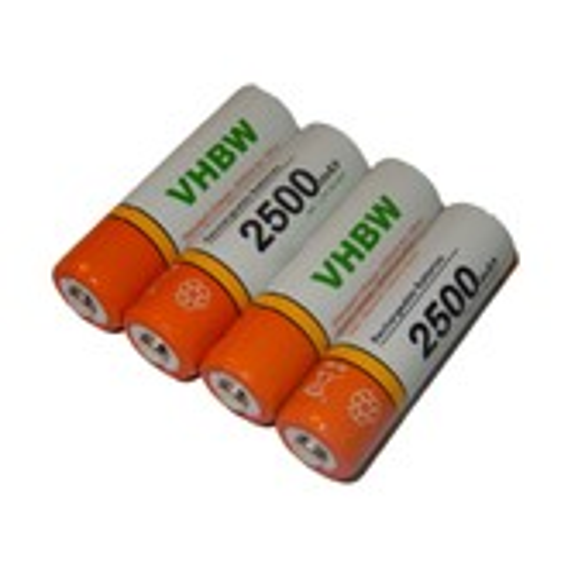 Lot de 4 batteries vhbw AA, Mignon, HR6, LR6 2500mAh pour souris Logitech M185, M235, M280, M317, M325, M345, M510, M525, console V-Tech
