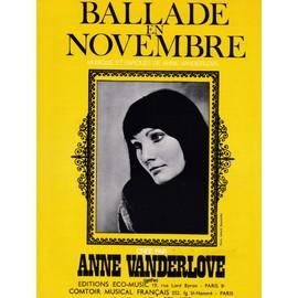 Ballade en novembre (Anne VANDERLOVE)