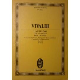 """Vivaldi : Concerto pour violon """"L'Automne"""", extrait des 4 saisons"""