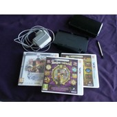 Nitendo 3 Ds + Bloc Support + Chargeur + 3 Jeux