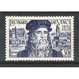 france, 1952, 5è centenaire de la naissance de léonard de vinci, n°929, neuf.