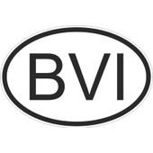 Autocollant Sticker Drapeau Oval Code Pays Voiture Iles Vierges Britaniques Bvi