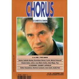 Chorus Les Cahiers De La Chanson N� 29 : A La Une: Yves Simon