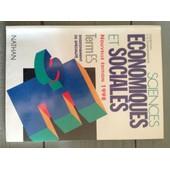 Sciences Economiques Et Sociales Terminale Es - Enseignement De Sp�cialit�, Edition 1998 de Claude-Dani�le Echaudemaison