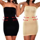 Maboobie Femme Robe Gaine Body Slim Ventre Plat Minceur Fitness Shaper Adapte A M-Xl Moulante Sculptant