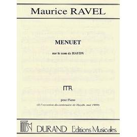 Ravel Menuet sur le nom de Haydn