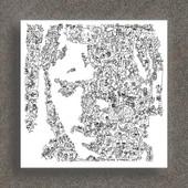Pink Floyd - David Gilmour - Portrait Biographique - Print En Edition Limit�e De 100 - Poster Rock - 20 X 20cm