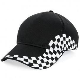 Casquette Grand Prix Damier Style F1 - Beechfield B159 - Noir