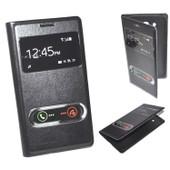 Housse Etui Coque View Cache Batterie Noir Pour Samsung Galaxy Grand Prime G530