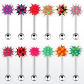 Lot De 5 Piercing Langue Virus Silicone
