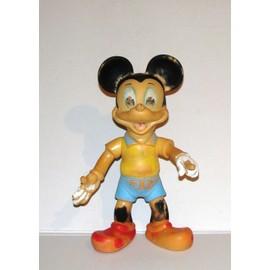 Mickey Figurine Articul�e Jouet Ancien Vintage 36cm Estampill� Walt Disney Elephant 1962