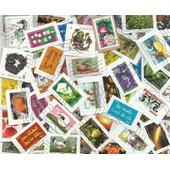 France 100 Timbres Differents 2009-2014 Grands Formats