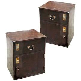 paire de tables de chevet collection fuji - Table De Chevet Pas Cher