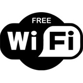 Autocollant Sticker Free Wifi Porte Fenetre Bar Pub Magasin Macbook