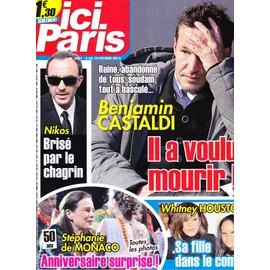 Ici Paris 3631 - Benjamin Castaldi / Nikos Aliagas / Stephanie De Monaco / Whitney Houston