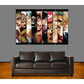 Poster Geant One Piece. Equipage De Luffy. R�aliste. Manga .118x84 Cm.