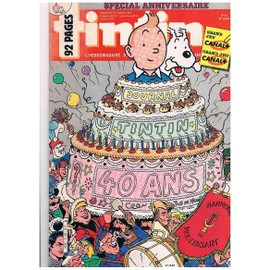 Journal Tintin N� 580 Special Anniversaire 40 Ans