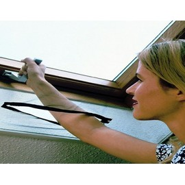 Moustiquaire V�lux Fen�tre De Toit Par Velcro Recoupable L140 X H170 Cm Noir