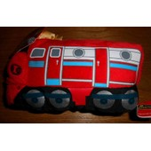 Peluche Doudou Train Rouge Chuggington Gipsy Locomotive Sonore Jouet Musical Enfant