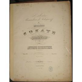 Deuxième sonate pour le piano . Oeuv .20 - A.Rubinstein.-