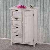 Commode / Armoire, 82x55x30cm, Shabby Chic, Vintage Blanc