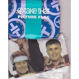 """TAKE THAT Picture Flag """"drapeau"""" 1994"""