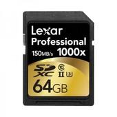 LEXAR Carte SD 64 Go 1000X Professional UHS-II Class 10 150 Mo/s