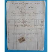 Facture Mercerie-Quincaillerie Lyon 1882