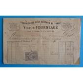 Facture Fournitures Pour Bureaux De Tabac Saint-Etienne 1881