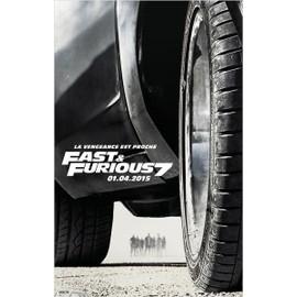 Fast &/And Furious 7/Sept-V�ritable Pr�-Affiche De Cin�ma Pli�e -Format 120x160 Cm -De James Wan Avec Vin Diesel, Paul Walker, Dwayne Johnson, Jordana Brewster, Michelle Rodriguez, Jason Statham -2015