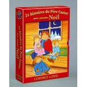 Coffret 4 Dvd Pere Castor 24 Histoires En Attendant Noel + Calendrier Avent