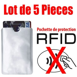 Lot De 5 �tui Protection Carte Bancaire Visa Bleue Anti Fraude
