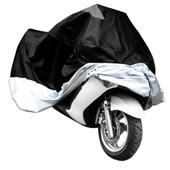 Housse Moto Scooter Argente Noir Taille Xxl Protection Exterieur Impermeable Sac
