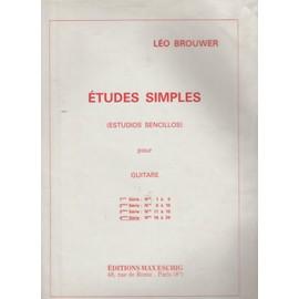 Études simples (Estudios sencillos) pour guitare, 4ème série, N° 16 à 20.