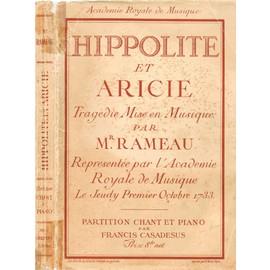 Hippolyte et Aricie (Tragédie en cinq actes) Klavierauszug - Soli, Chor und Klavier