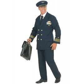 D�guisement Commandant Pilote Adulte - Xl, Bleu