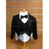 Costume De C�r�monie Bapt�me Mariage F�te Communion Queue De Pie Gar�on Enfant 5 Pi�ces Tailles 1 � 10 Ans