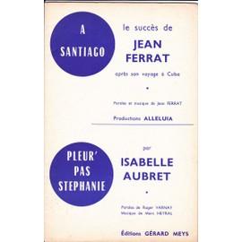 LOT DE 6 ORCHESTRATIONS DE JEAN FERRAT
