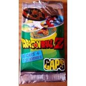 Booster Panini Caps Dragon Ball Z 1989 6 Caps + 1 Slammer