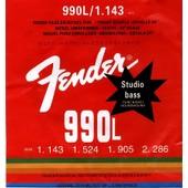 Pack Set 4 Cordes Pour Basse �lectrique │ Fender Studio Bass 990 L │ Rondes Fil�es Nickel Pur │ Tirant Souple 1.143