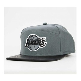 Casquette Mitchell & Ness Strapback Los Angeles Lakers Gris Hapnel
