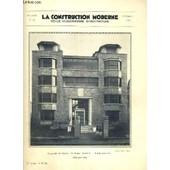 La Construction Moderne - 48e Volume (1932-1933) - Fascicule N� 22 - Un Dispensaire A Suresne, Facade Principale, Solarium Et Abri Sur Terrasse (Deux Semblables), Plans Du Rez-De-Chauss�e Et ... de RUMLER A. / MAURRY M. /