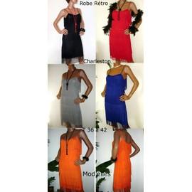 Robe Charleston � Franges/ Robe R�tro Femme 5 Coloris T 36 � 42