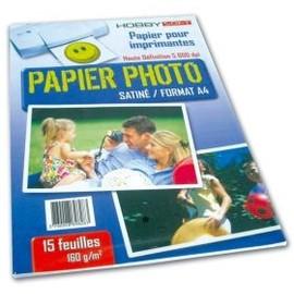 Papier Photo Satine A4 160g - 15 Feuilles