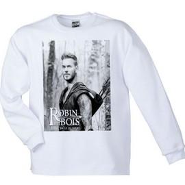 Sweat Shirt M Pokora - Robin Des Bois - Blanc