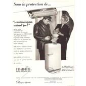 Frigidaire Publicit� Plaisir De France 1952 R�frig�rateur Froid