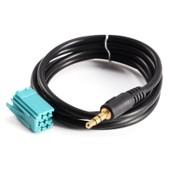 Cable Adaptateur Audio 3.5mm Prise Ecouteur Output Inrerface Aux Input Pour Systeme Hifi Voiture Renault Clio Megane Scenic