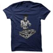 T-Shirt Bruce Lee Dj Blue Navy