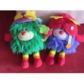 Lot De 2 Petites Peluches Rainbow Brite Mattel 1983 Mod�les Rares